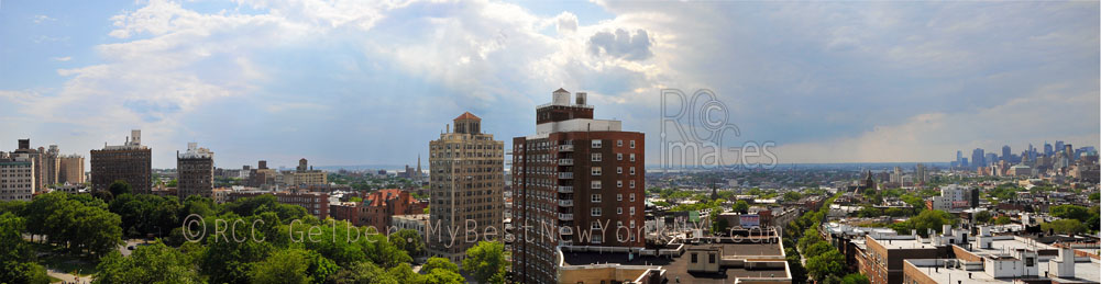 Panorama image of New York Harbor Brooklyn & Southern Manhattan